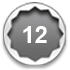 12-point socket steel icon