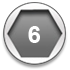 6-point socket titanium icon