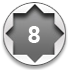 8-point striking, beryllium, flat handle hammer wrench