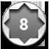 8-point striking, black-steel, offset handle hammer wrench